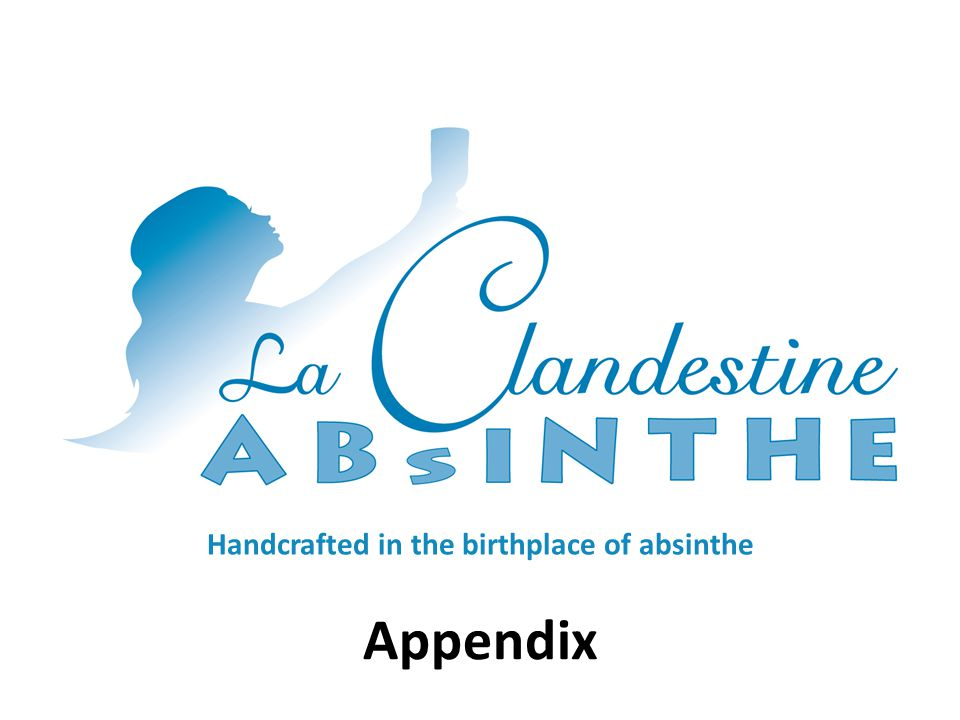 Handcrafted in the birthplace of absinthe Appendix