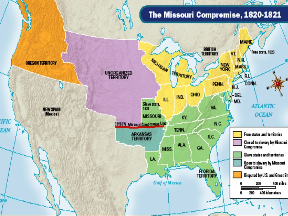 Missouri Compromise Missouri territory applied for statehood as a ...