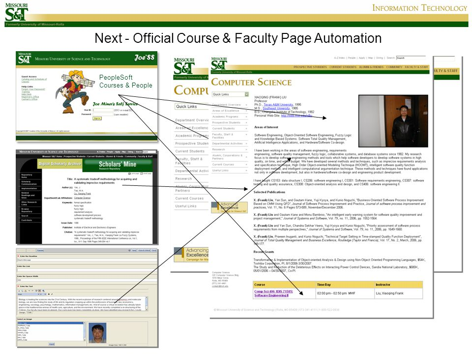 Next - Official Course & Faculty Page Automation PeopleSoft Courses & People