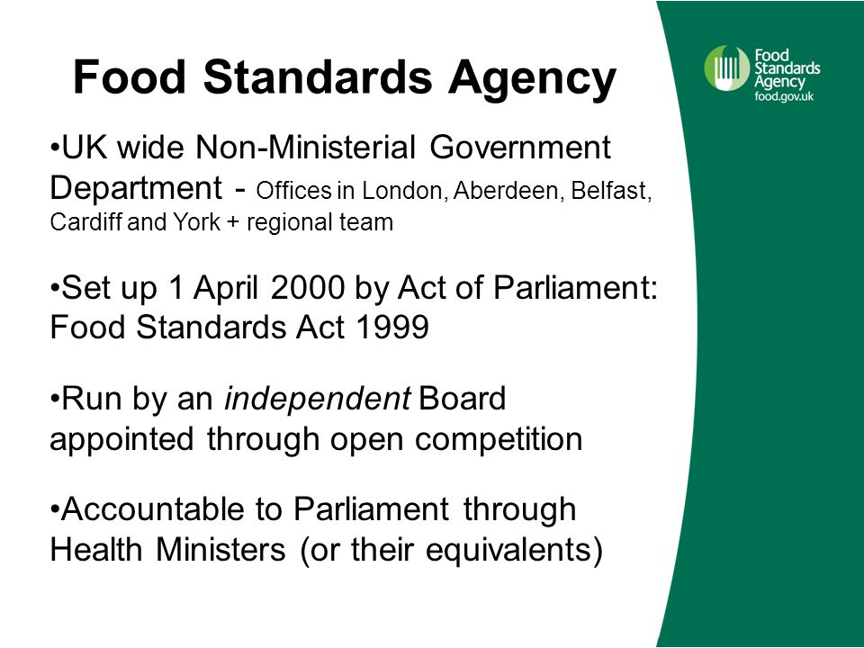the food standards act 1999