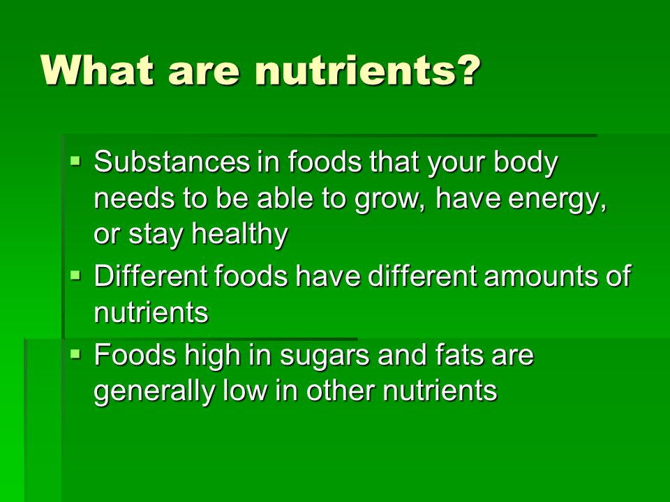 What influences your food choices.