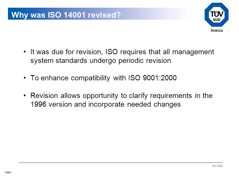 5Page TÜV SÜD Why was ISO revised.