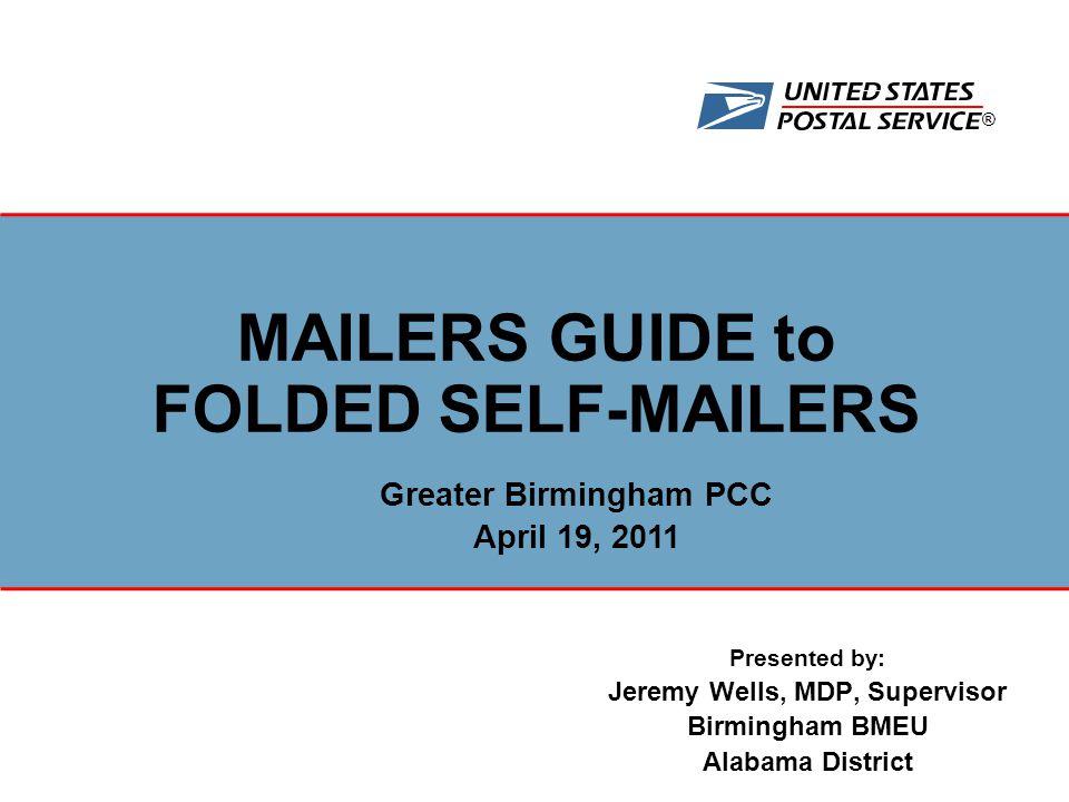 Presented by: Jeremy Wells, MDP, Supervisor Birmingham BMEU Alabama ...