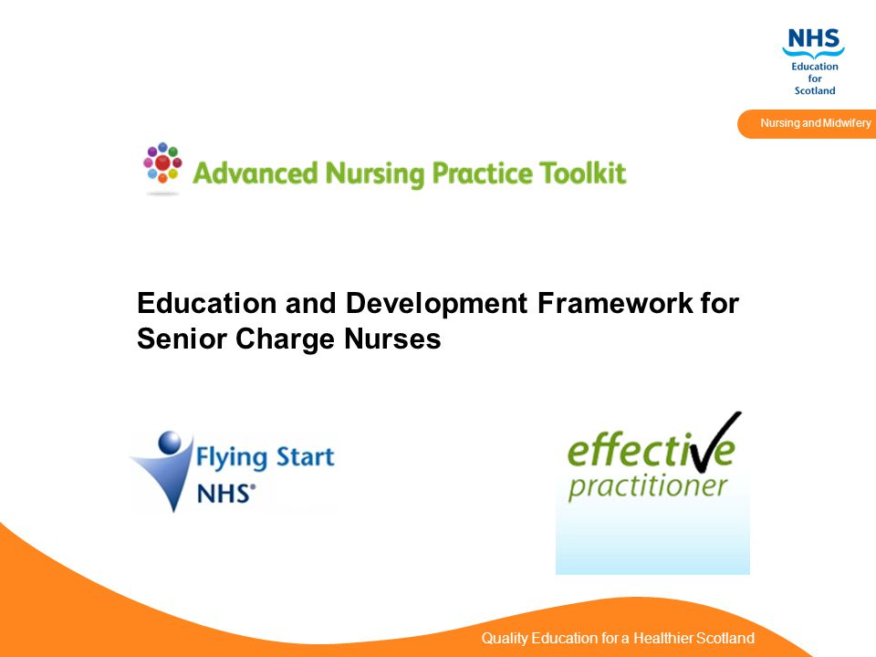 Quality Education for a Healthier Scotland Nursing and Midwifery Education and Development Framework for Senior Charge Nurses