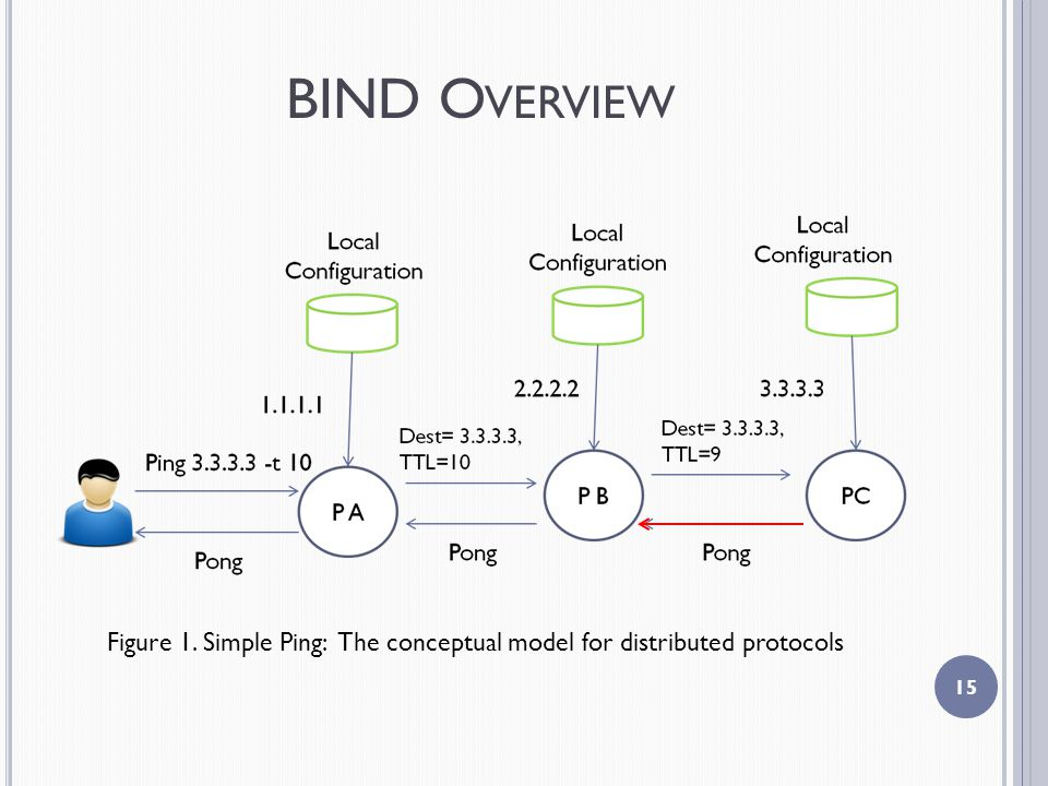 BIND O VERVIEW 15 Figure 1. Simple Ping: The conceptual model for distributed protocols