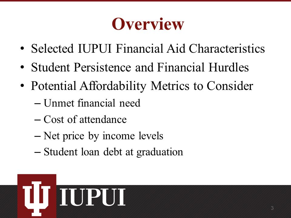 Iupui Financial Aid >> Financial Aid And Affordability Metrics Marvin Smith