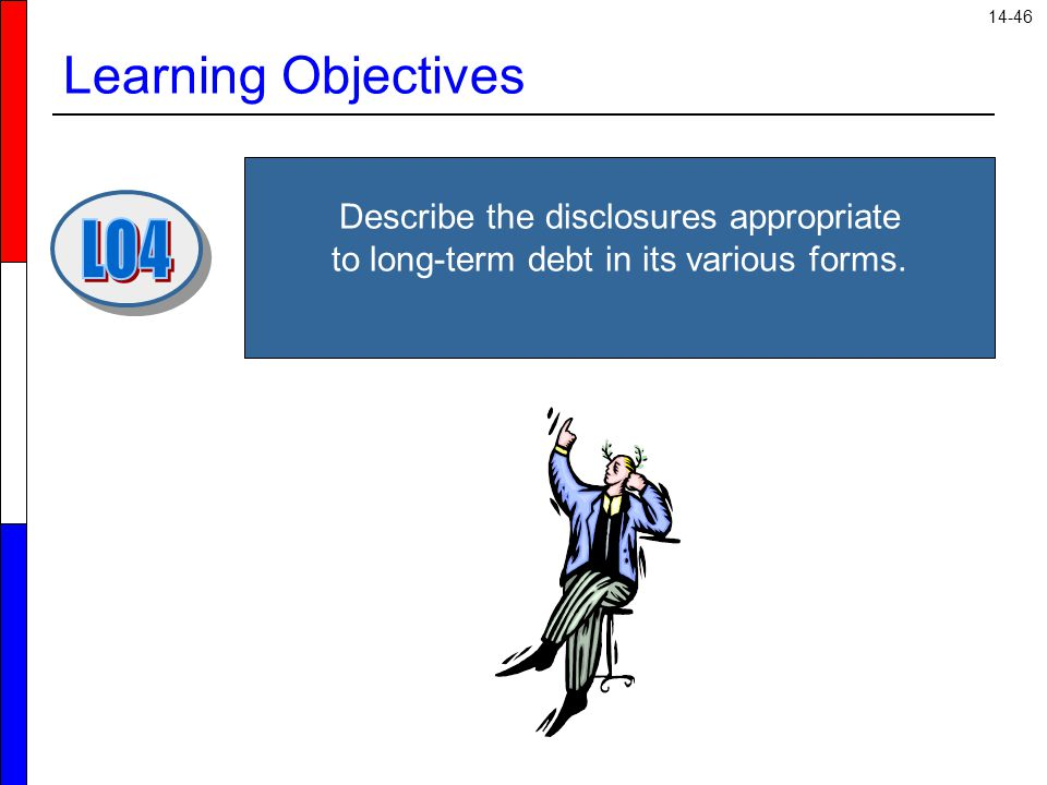 14-46 Learning Objectives Describe the disclosures appropriate to long-term debt in its various forms.