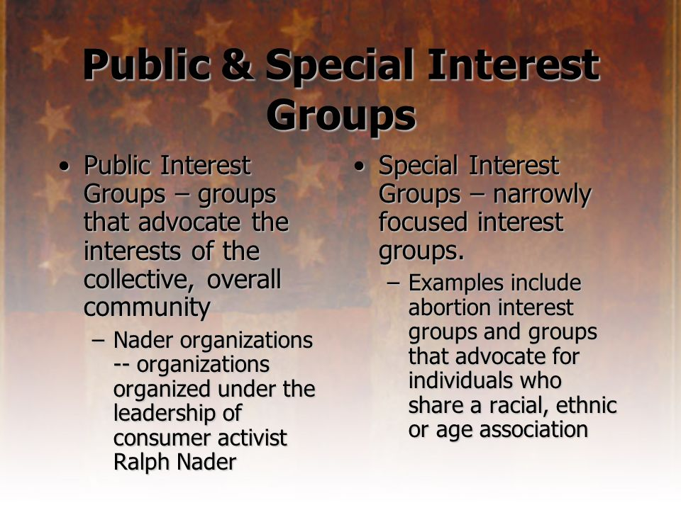 example of a public interest group
