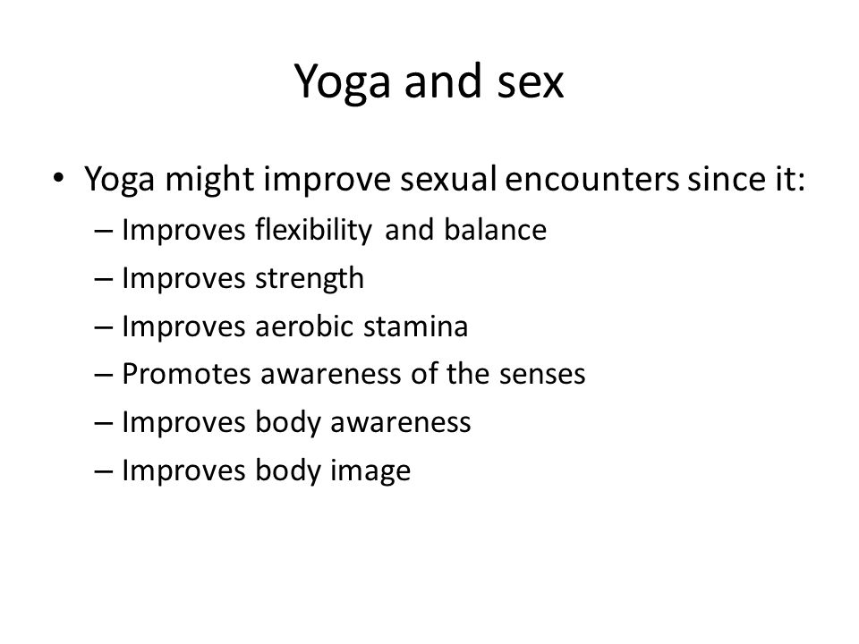 yoga for sexual strength