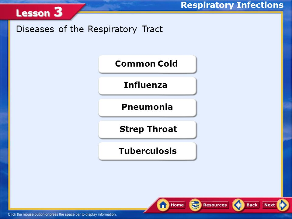 Lesson 3 Preventing Respiratory Illnesses Avoid close contact with people who are infected.