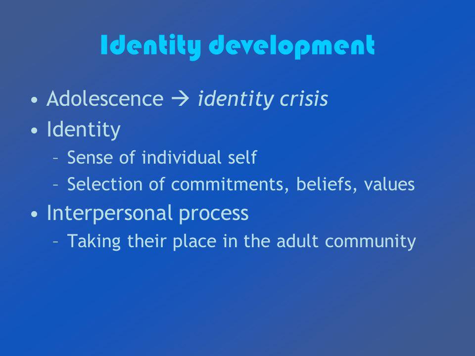 teenage identity crisis