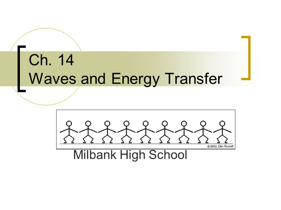 Ch. 14 Waves and Energy Transfer Milbank High School