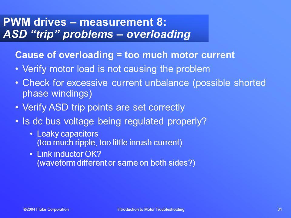 2004 Fluke Corporation Introduction to Motor Troubleshooting 1