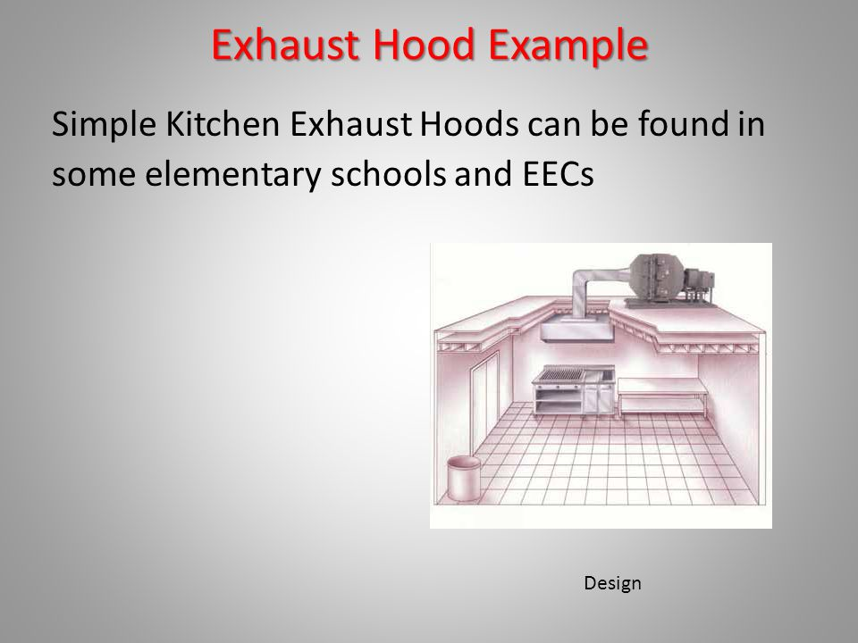 3 Exhaust Hood Example Simple Kitchen Exhaust Hoods Can Be Found In Some  Elementary Schools And EECs Design