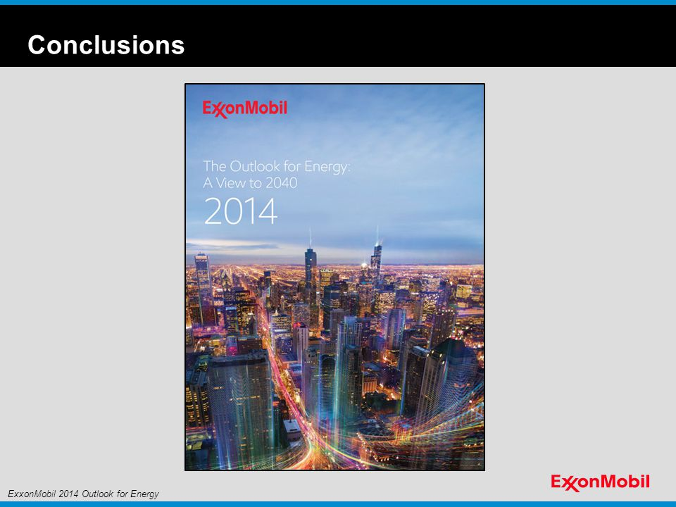 Conclusions ExxonMobil 2014 Outlook for Energy