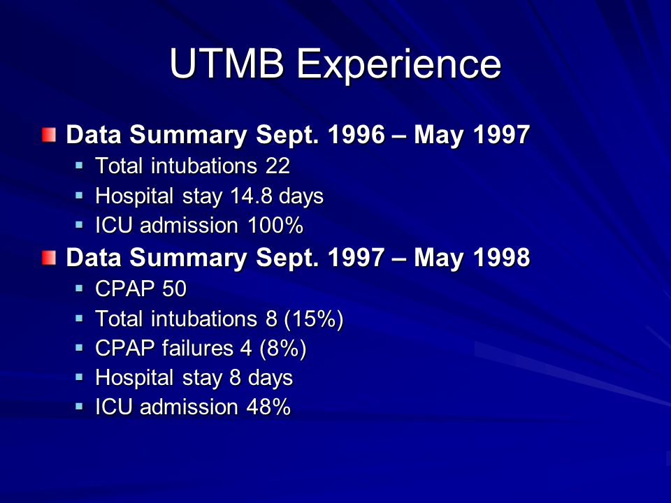 UTMB Experience Data Summary Sept.