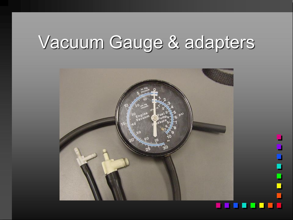 Troubleshooting with a vacuum gauge PHS