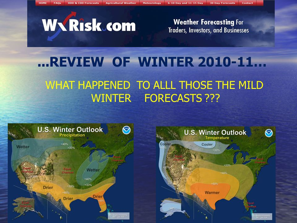 ...REVIEW OF WINTER … WHAT HAPPENED TO ALLL THOSE THE MILD WINTER FORECASTS