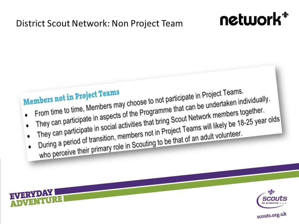 District Scout Network: Non Project Team