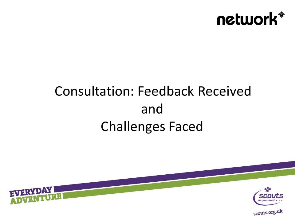 Consultation: Feedback Received and Challenges Faced