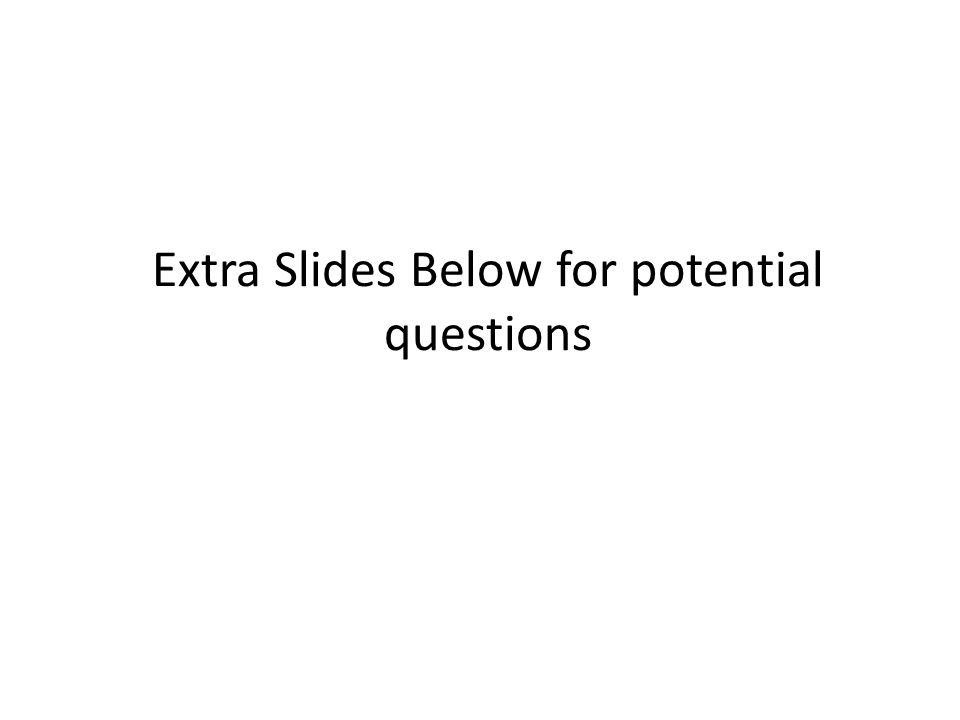Extra Slides Below for potential questions