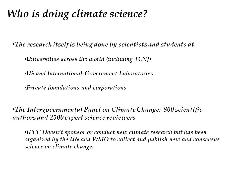 Who is doing climate science.