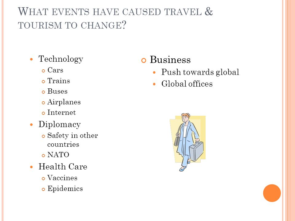 W HAT EVENTS HAVE CAUSED TRAVEL & TOURISM TO CHANGE .