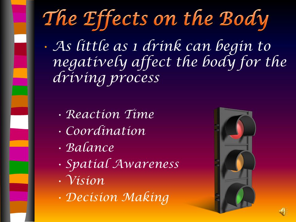 Alcohol A drug that alters the state of consciousness (depressant) Increases the body's BAC or blood alcohol content