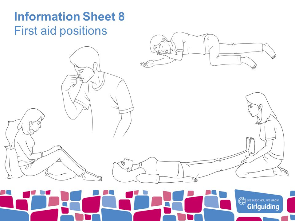 Information Sheet 8 First aid positions