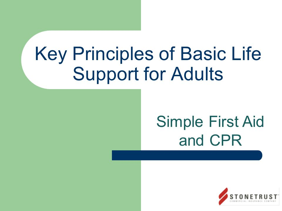 Key Principles of Basic Life Support for Adults Simple First Aid and CPR