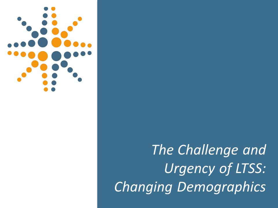 3 The Challenge and Urgency of LTSS: Changing Demographics 3