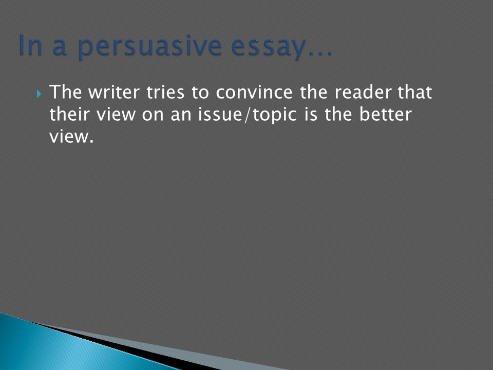 Graduating High School Essay   The Writer Tries To Convince The Reader That Their View On An  Issuetopic Is The Better View Sample Essay Paper also Modern Science Essay Communication Intended To Induce Belief Or Action Opinion A  Essay Writing Business
