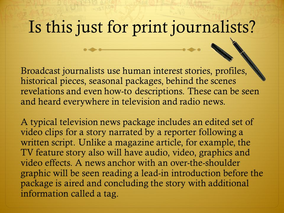 Feature Stories Journalism I  What Are Feature Stories
