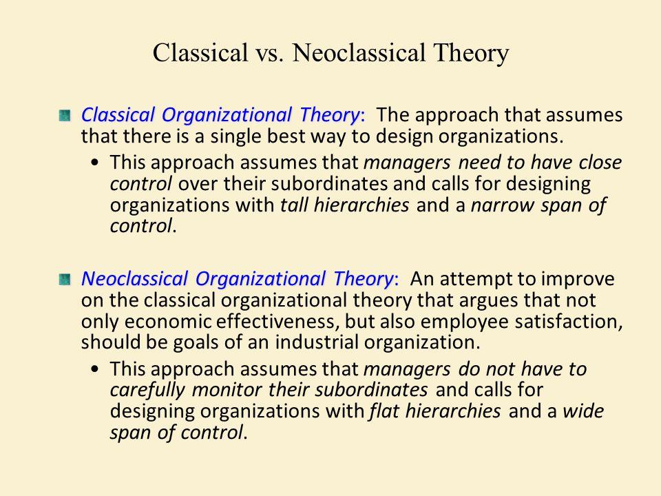 neoclassical organization theory