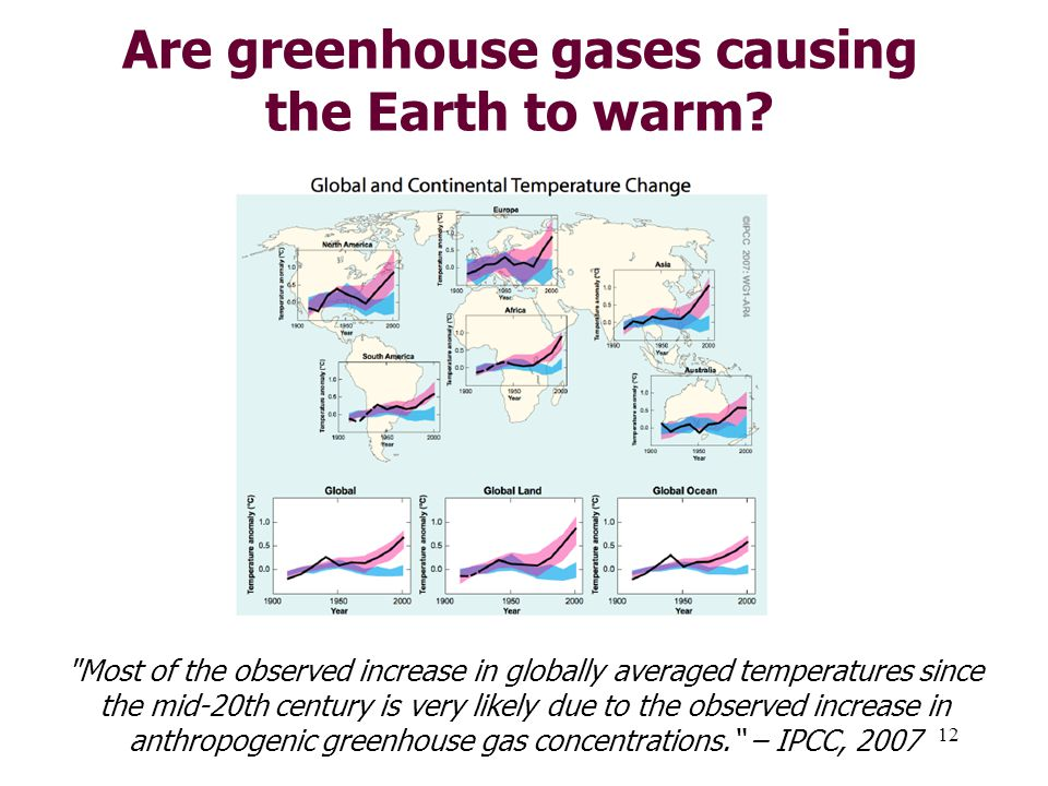 12 Are greenhouse gases causing the Earth to warm.