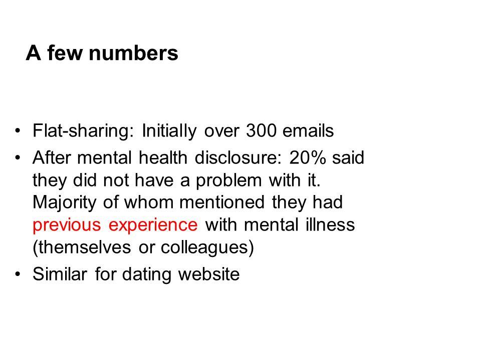 Dating websites mental illness