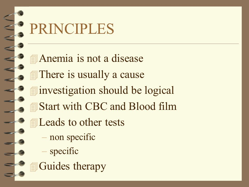 CLUES TO THE DIAGNOSIS IN ANEMIA