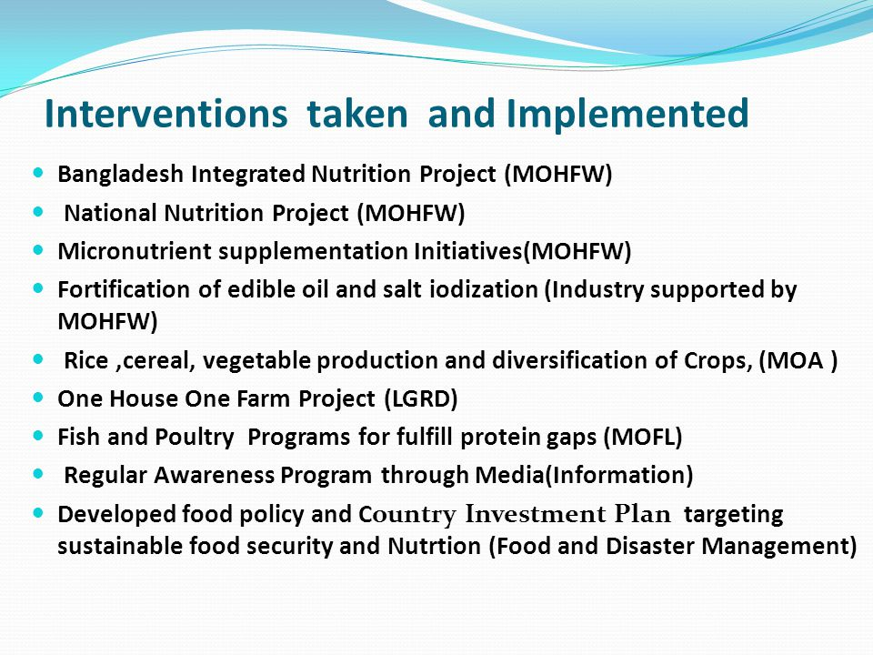 Institutional and Policy Environments for Promoting Nutrition in