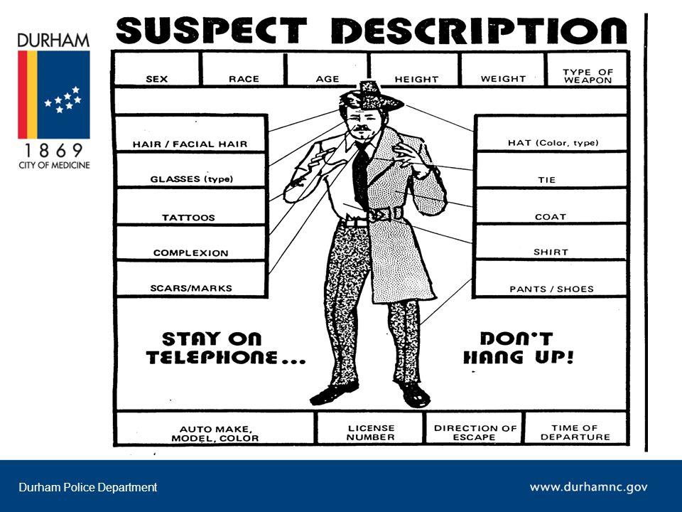 Durham Police Department Neighborhood Watch Organizing A