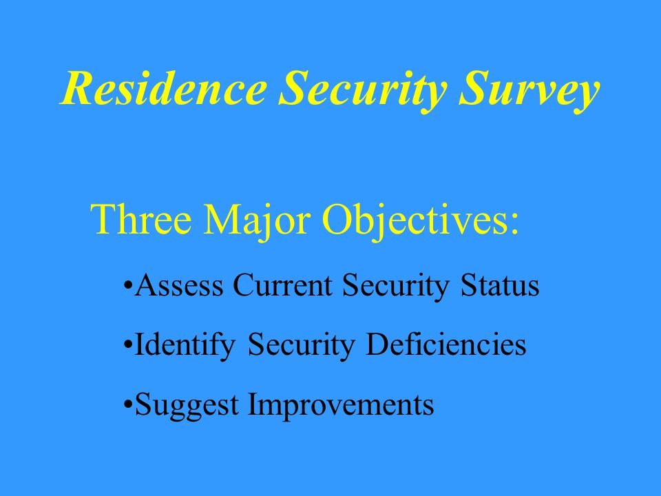 Philosophy of Crime Prevention The Four D's Deny: Deny entry or opportunity Delay: Utilize Security devices…locks or other security hardware Detect: Discover entry… alarms, neighbors, police, etc.