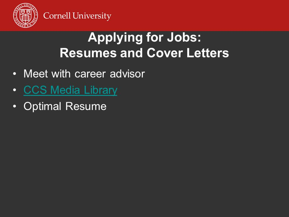 cornell s career resources for the non academic job search christine