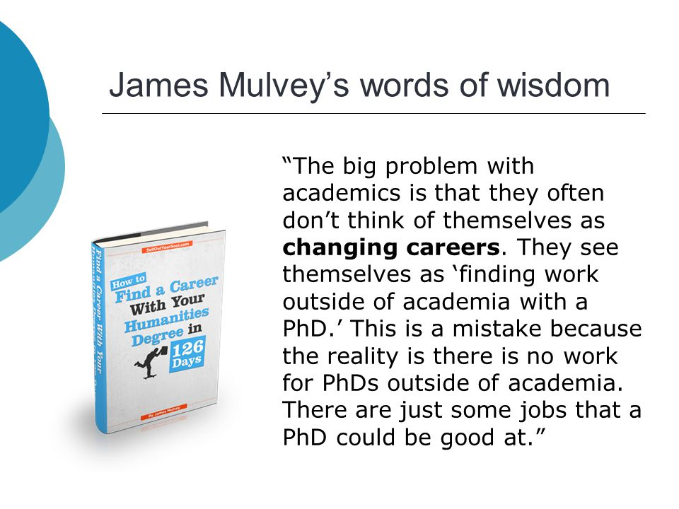 How to market yourself for a career outside academia Dr Chris