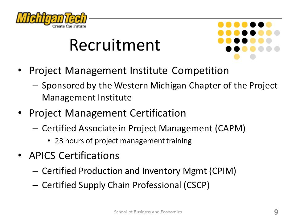 Program In Supply Chain And Operations Management School Of Business