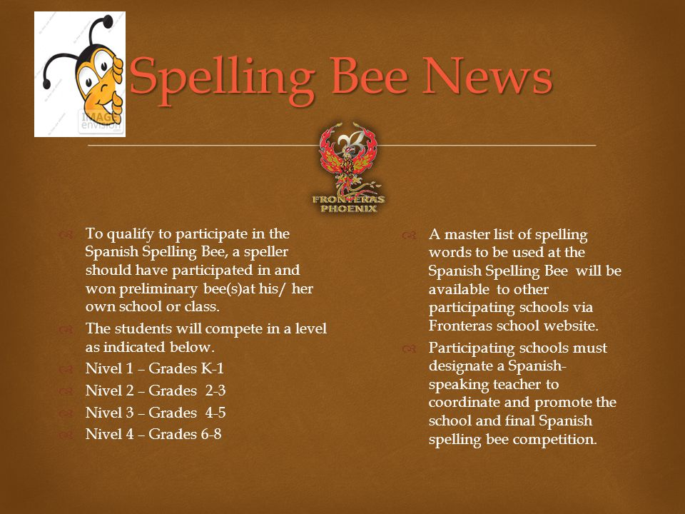 spelling bee news to qualify to participate in the spanish spelling bee a