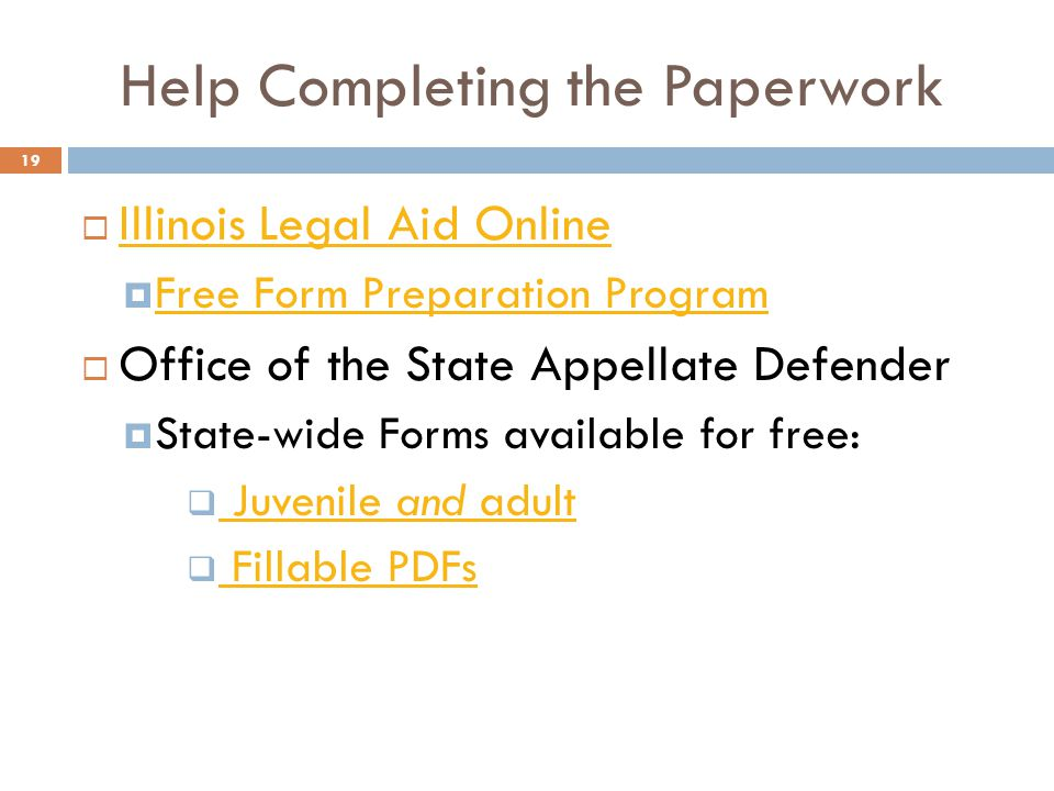 JUVENILE RECORDS AND JUVENILE EXPUNGEMENT IN ILLINOIS Camille Taylor - Help with legal paperwork