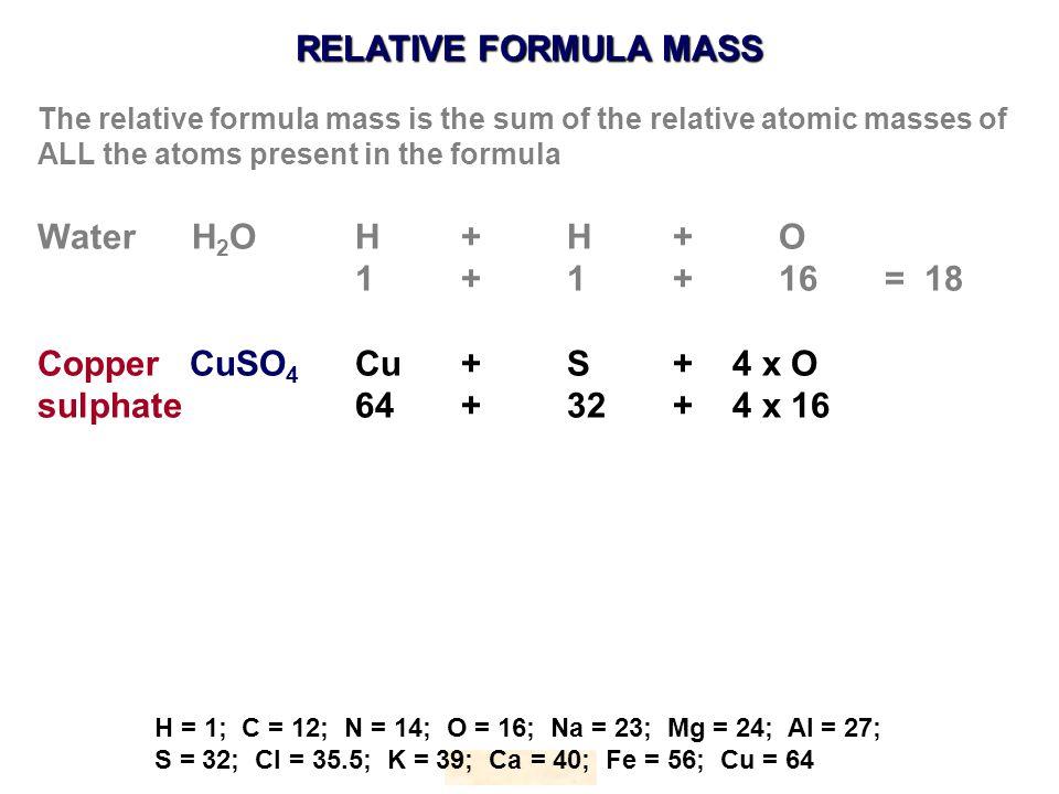 Calculations Involving Formulae National 5 Chemistry Knockhardy