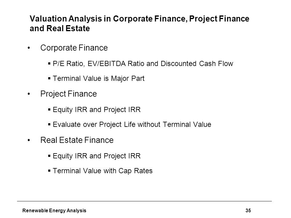 Project Finance ModellingApril 151 Introduction  Renewable Energy