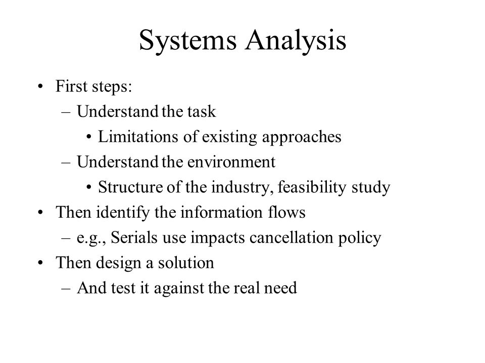 limitation of system analysis