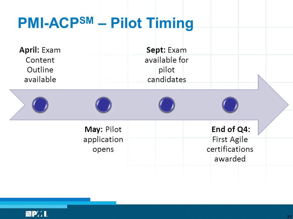 Introduction to the PMI Agile Certification: PMI-ACP SM PMI-NIC ...