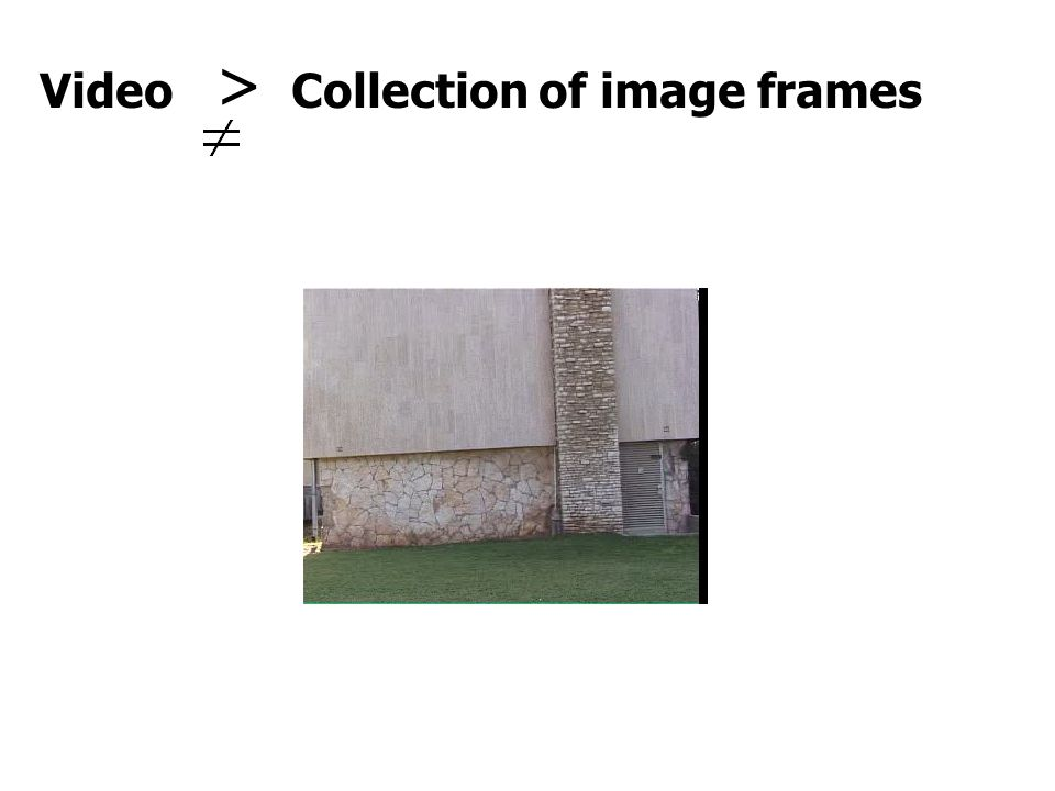 Video > Collection of image frames